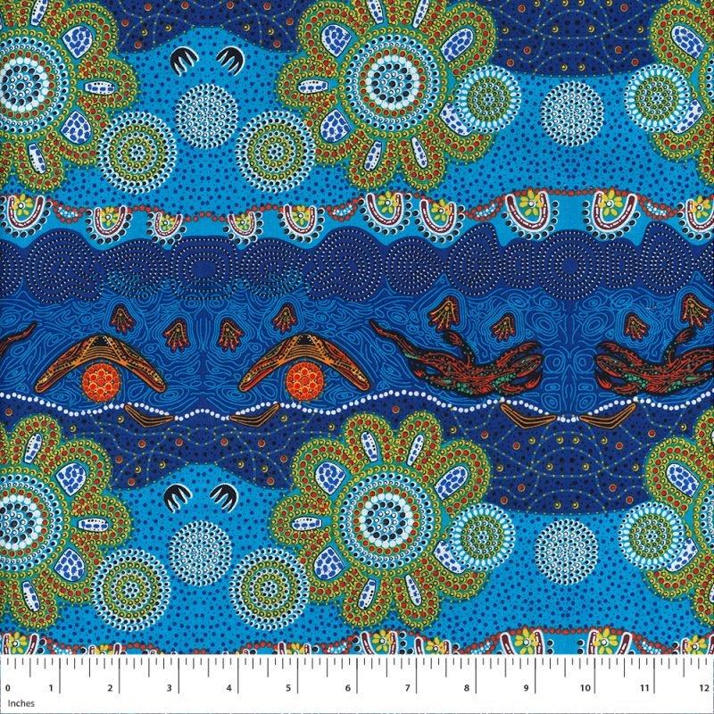 M & S Fabrics Home Country Blue HCBL