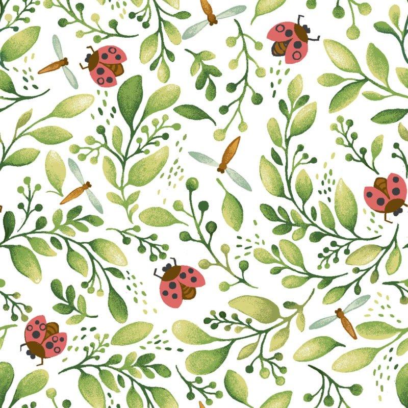 Home Tweet Home Ladybugs Oasis Fabrics 6031101