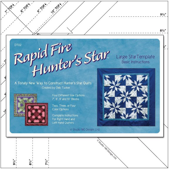 Large Rapid Fire Hunter's Star Deb Tucker's Studio 180 Design