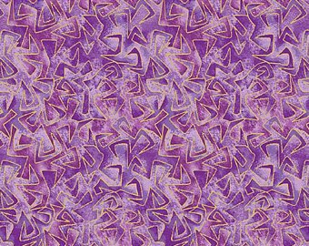 Benartex Triangular Motion Purple