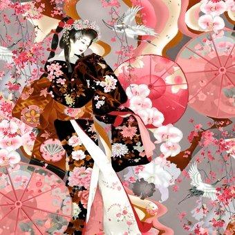Blank Textiles Michiko 7448 092 Grey