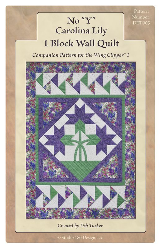 No Y Carolina Lily 1 Block Wall Quilt by Deb Tucker Studio 180 Design