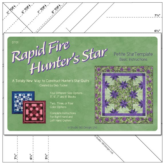 Petite Rapid Fire Hunter's Star, Deb Tucker's Studio 180 Design