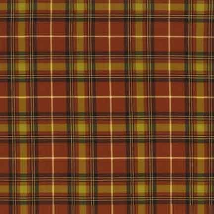 Timeless Treasures Plaid CM5187 Spice