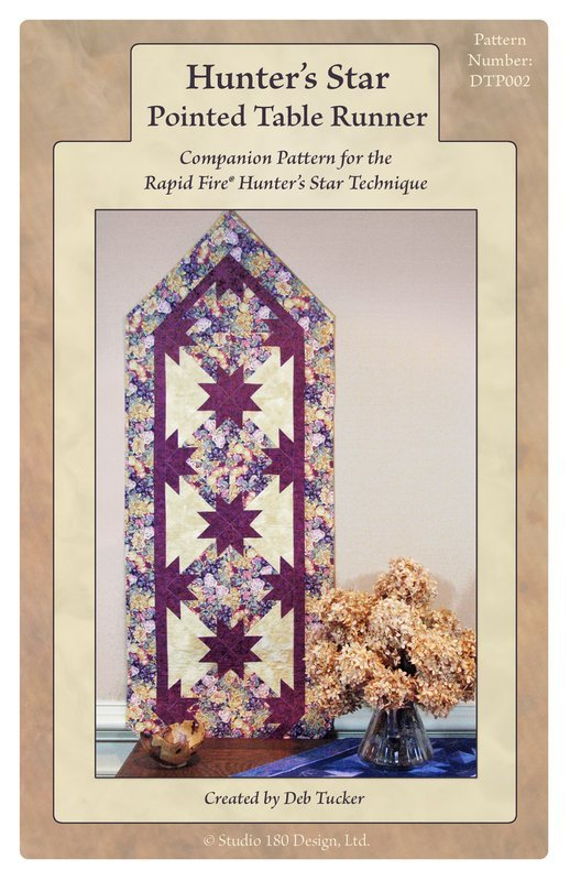Hunter's Star Pointed Table Runner by Deb Tucker Studio 180 Design