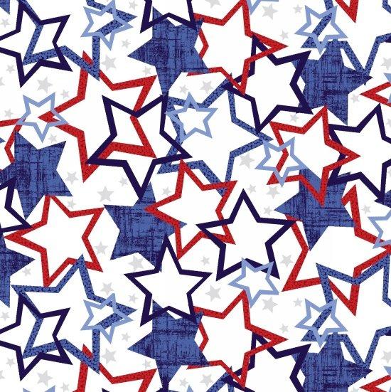 Studio E Patriotic Pride 3597 07W Stars
