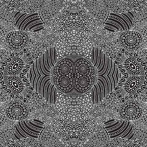 Waterhole Black by Anna Pitjara