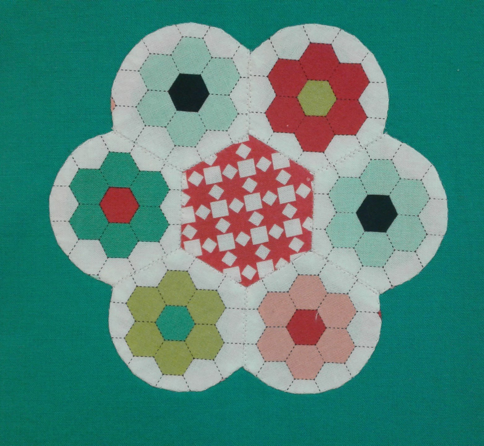 English Paper Pieced Quilt Month 3