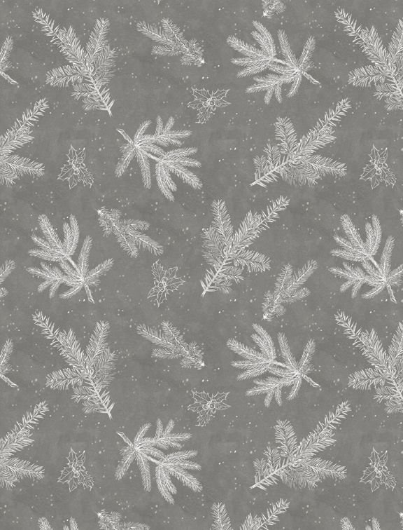 Woodland Friends 96450 911 Branch Toile Gray