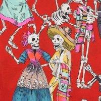 Fiesta de los Muertos 45ER Red