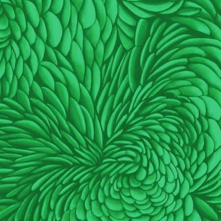Green Tone on Tone PETL01 Curved & Elongated Petal Shapes