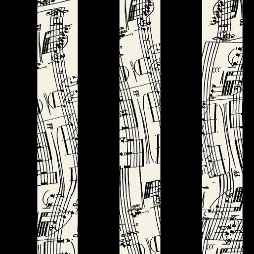Music to My Ears 8452 12 Duet Stripe Black/Cream