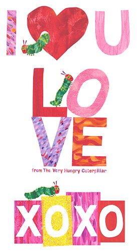 Hungry Caterpillar 8335-R I Heart You Red