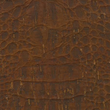 Cork Fabric Touch Pro Crocodile Reddish Brown 55in Wide