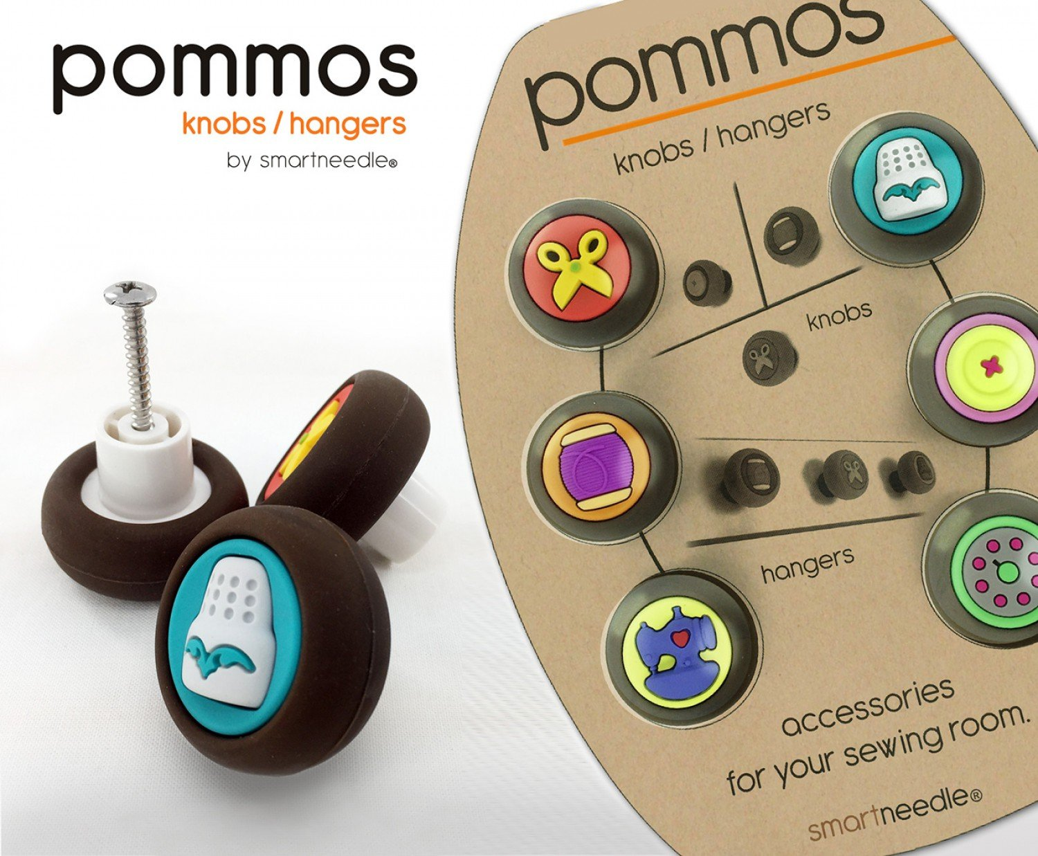 POMMOS Knobs & Hangers 6pcs