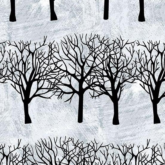 Winter Moons A-8517-C Black Winter Trees