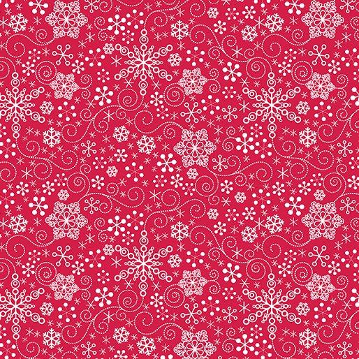 Mulberry Lane 1896-10 Snowflake Red