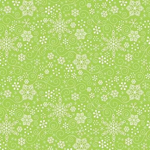 Mulberry Lane 1896-42 Snowflake Green
