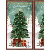 Frosted Holiday 54546 735 Large Panel Multi