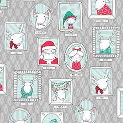 Mingle & Jingle 25917 K Gray Santa's Crew Picture Patches