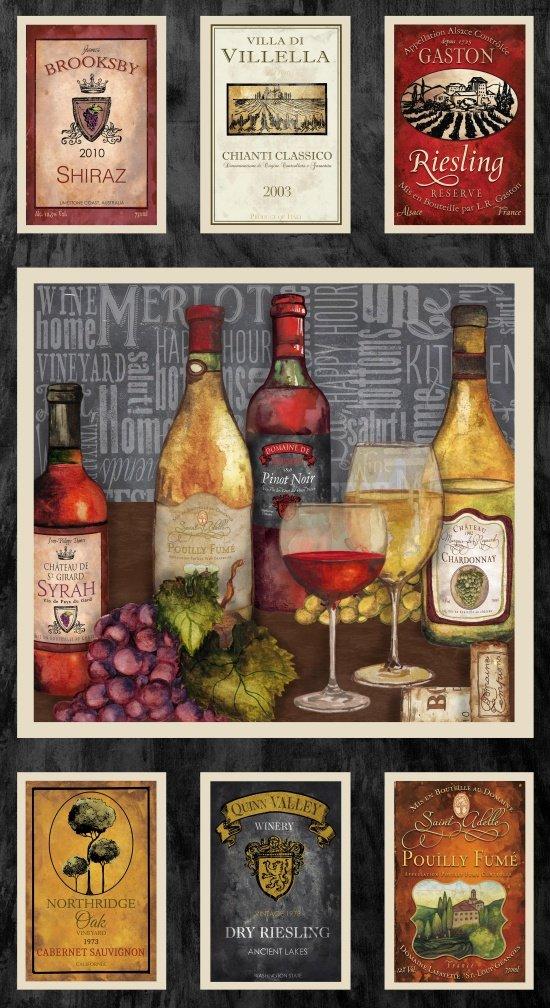 Vintage 1130P-90 24 Wine Panel Black/Grey