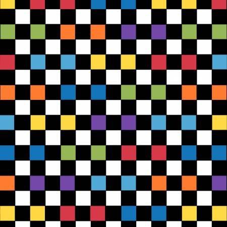 Bedtime Rhymes 6733-97 Multi Checkerboard