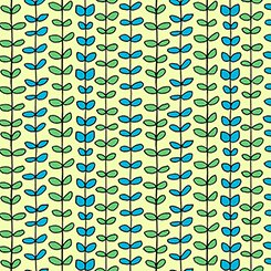 House on the Hill 26269 H Page Green Leaf Stripe