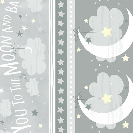 Gail C6289 Gray To the Moon & Back Stripe