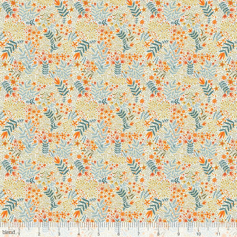 Fall Goodness 119.05.1 Flower Skeletons White