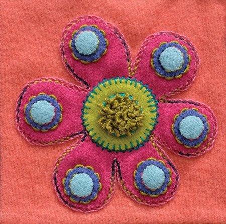Spargo Pre-cut 6 x 6 Blocks - FLOWER