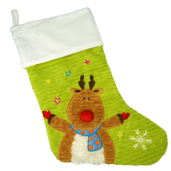 Cubbies - Lime Reindeer Stocking