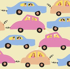 City Gals 26680 S Cars Yellow