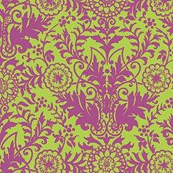 Lyla Damask 26106 HP Lime/Pink