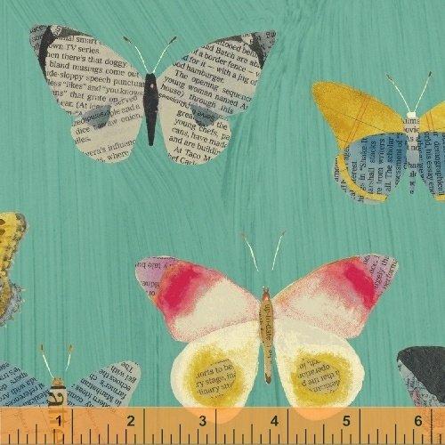 Wonder 50515 3 Aqua Newspaper Butterflies