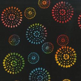 Wide Back 603Q 2 Rainbow Tribal Dot