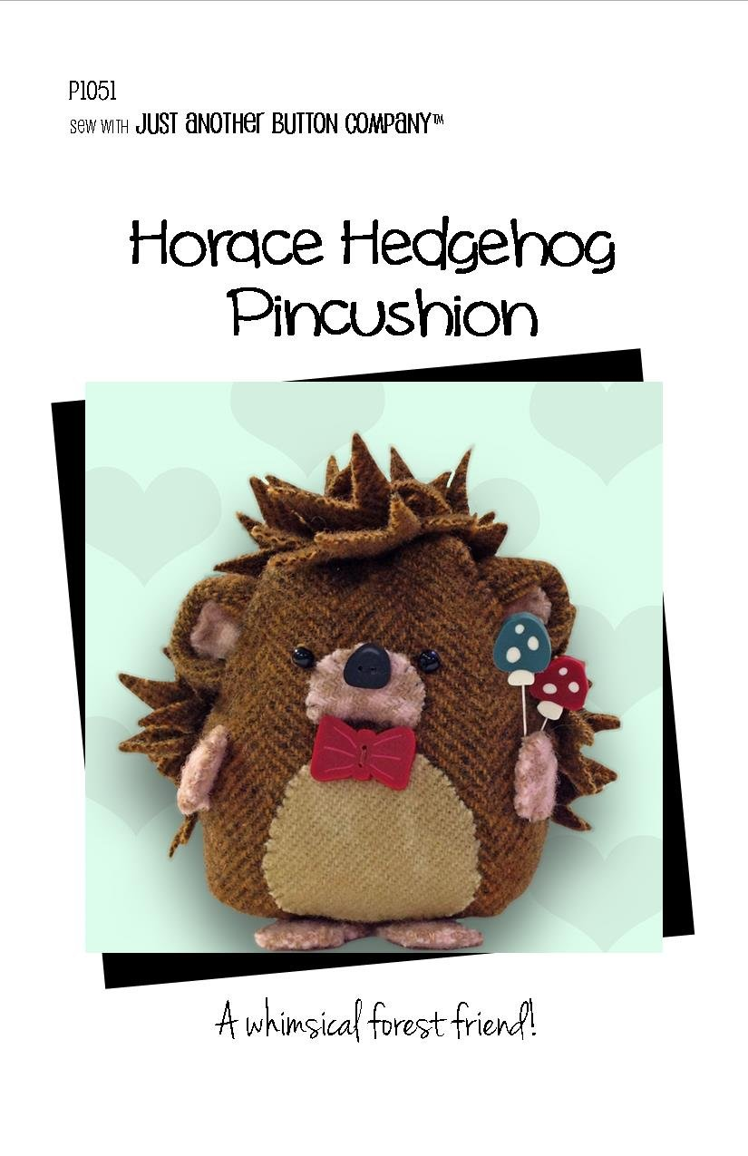 Horace Hedgehog PT includes Buttons and Pins