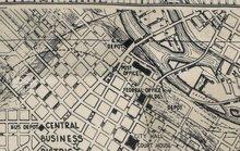 Foundations Street Maps - Black by Tim Holtz PWTH056
