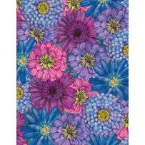 Blossom & Bloom 74202 645 Packed Flowers Blue