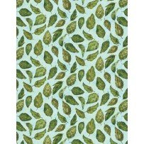 Blossom & Bloom 74204 777 Tossed Leaves Mint