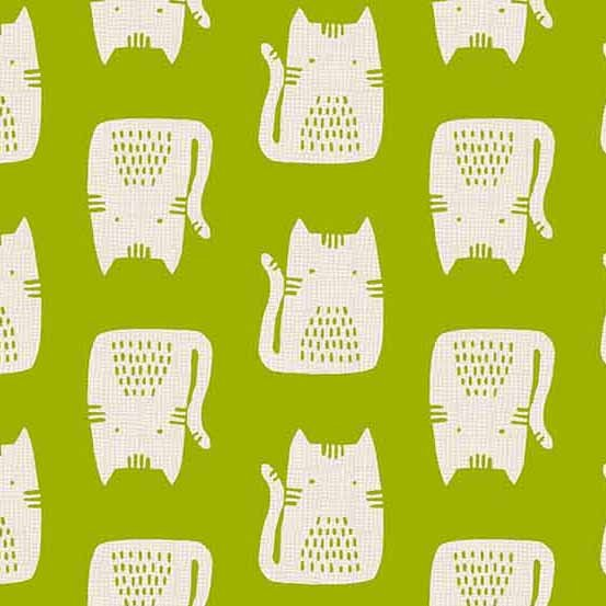 Cats and Dogs A-8966-G Green Cats