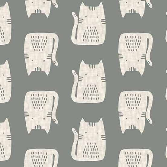 Cats and Dogs A-8966-C Grey Cats