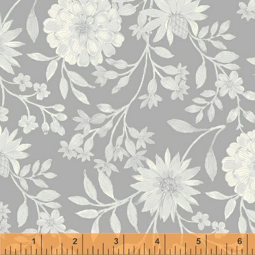 Eliana 50768 3 Grey Mono Floral