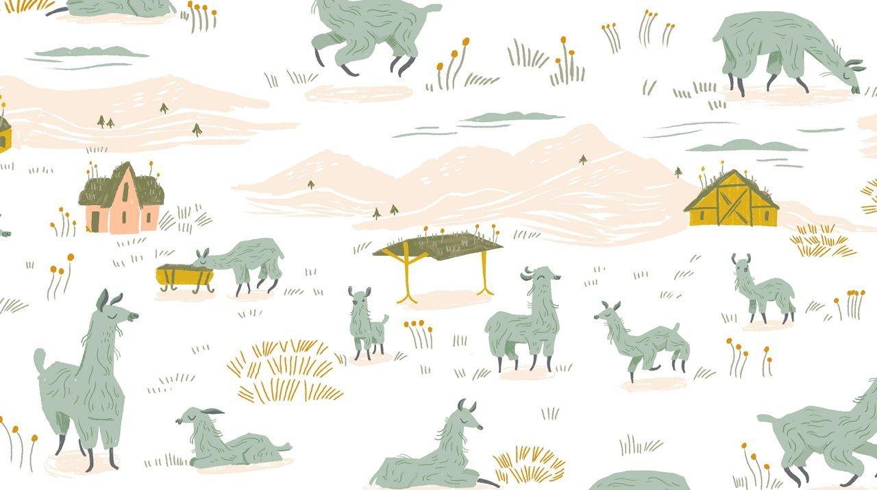 Llama Lands SRR1108-White Llama Land