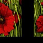 Poppy Poetry Y2657-82 Red Small Panel