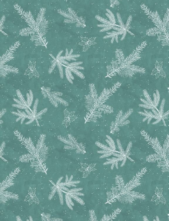 Woodland Friends 96450 411 Branch Toile Teal