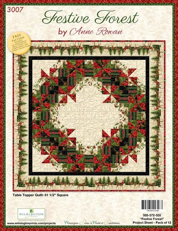 Festive Forest Quilt Kit with Pattern