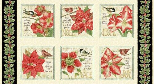 Holiday Botanical 9559 Lg Blocks Multi