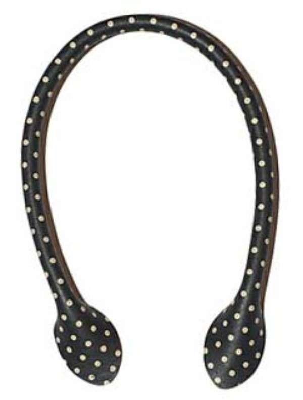 Bag Handles/Black Polka Dot 16in