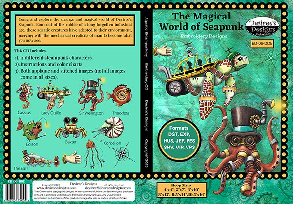 Aquatic Steampunkery CD4016A Magic World