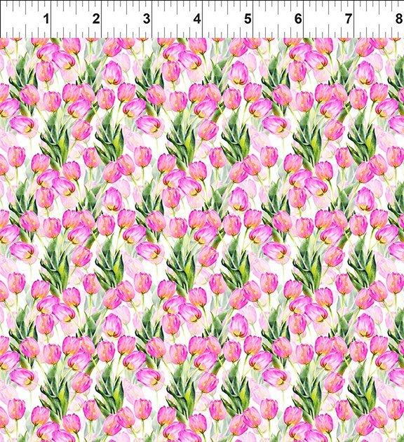Watercolor Beauty 2GSH-2 Tulips Pink